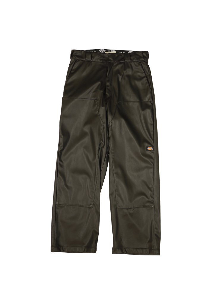 JieDa×Dickies<br />FAKE LEATHER DOUBLE KNEE PANTS / BLACK<img class='new_mark_img2' src='https://img.shop-pro.jp/img/new/icons14.gif' style='border:none;display:inline;margin:0px;padding:0px;width:auto;' />