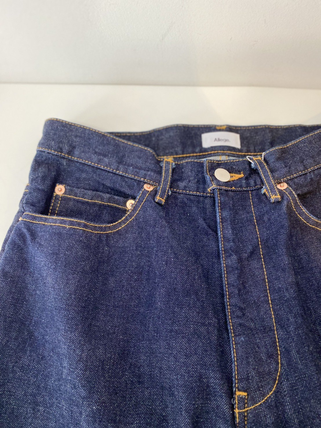 ALLEGE<br />Semi Flare One Wash Denim PT / BLUE<img class='new_mark_img2' src='https://img.shop-pro.jp/img/new/icons14.gif' style='border:none;display:inline;margin:0px;padding:0px;width:auto;' />