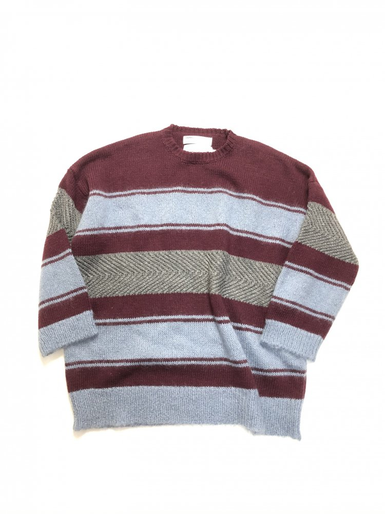 DAIRIKU<br />Molly Border Mohair Knit / Youth Blue<img class='new_mark_img2' src='https://img.shop-pro.jp/img/new/icons14.gif' style='border:none;display:inline;margin:0px;padding:0px;width:auto;' />