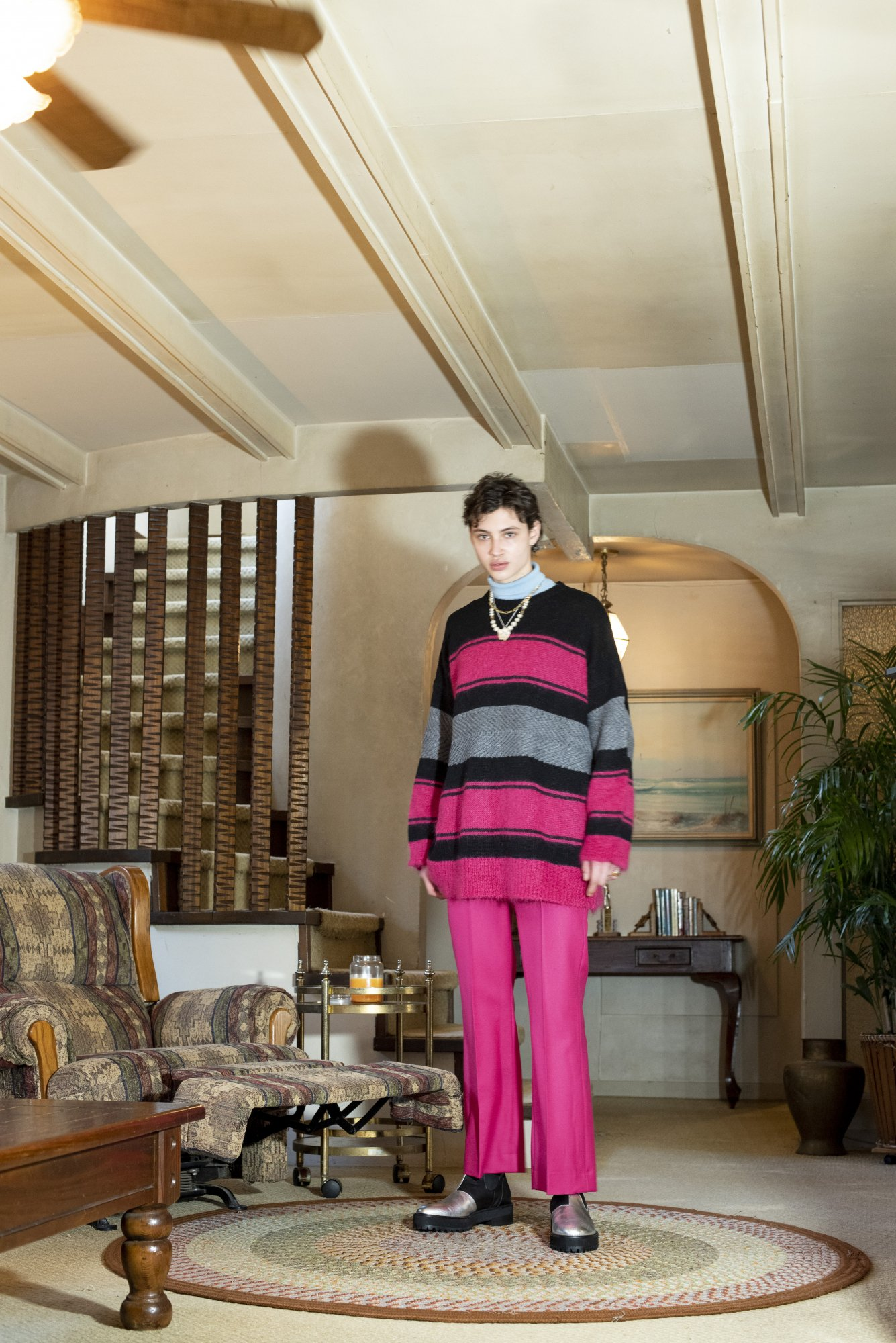 DAIRIKU<br />Molly Border Mohair Knit / Dancing Pink<img class='new_mark_img2' src='https://img.shop-pro.jp/img/new/icons47.gif' style='border:none;display:inline;margin:0px;padding:0px;width:auto;' />