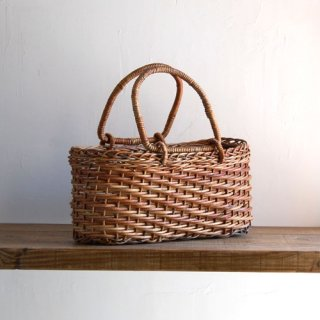 あけびかご/薄型ホラ編み弓手/特小