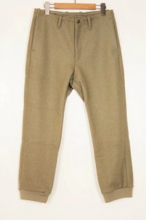 MELTON RIB PANTS / BEIGE