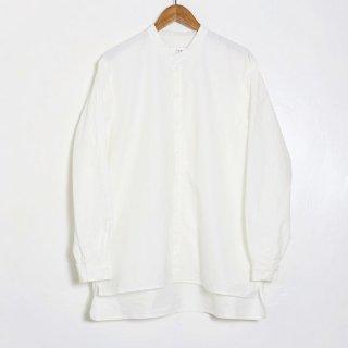 Pajama Look ダンガリースタンドカラーシャツ / WHITE