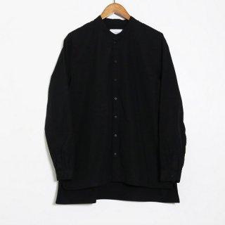 Pajama Look ダンガリースタンドカラーシャツ / BLACK