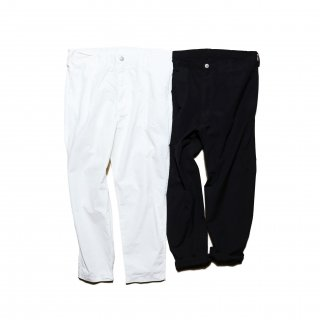 Pajama Look ダンガリーテーパードパンツ / WHITE