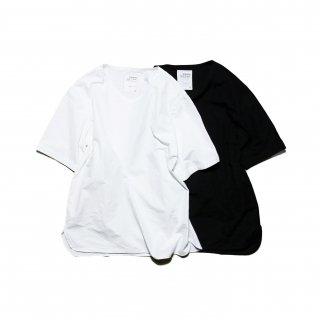 Pajama Look ダンガリー半袖プルオーバー / WHITE