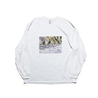 長袖プリントT-シャツ