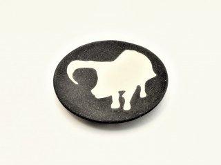 シマムラヒカリ 象嵌豆皿 バッファロー