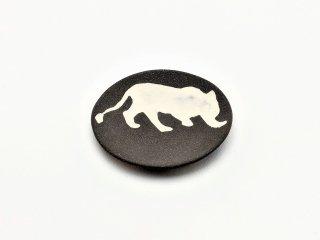 シマムラヒカリ 象嵌豆皿 牝ライオン