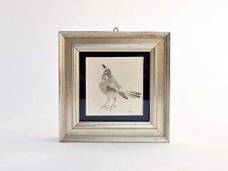 イシバシミキコ 額絵『シロハラ』98×98mm
