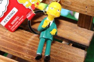 シンプソンズPVCキーリング モントゴメリー 輸入雑貨/海外雑貨/直輸入/アメリカ雑貨/イギリス雑貨/文房具/おもちゃ/キーリング/キーホルダー/シンプソンズ/Simpsons/PVC/モントゴメリー