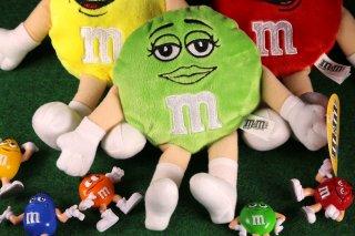 m&m's エムアンドエムズ ビーンドール グリーン  輸入雑貨/海外雑貨/直輸入/アメリカ雑貨/イギリス雑貨/おもちゃ/m&m's/えむあんどえむず/クッション/ぬいぐるみ