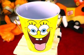スポンジボブ ミニバケツ 輸入雑貨/海外雑貨/直輸入/アメリカ雑貨/イギリス雑貨/おもちゃ/ミニ/バケツ/ペン入れ/スポンジボブ/SpongeBob