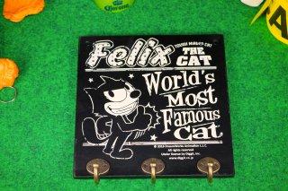 フィリックス フックボード ブラック 1 輸入雑貨/海外雑貨/直輸入/アメリカ雑貨/イギリス雑貨/文房具/おもちゃ/フィリックス/Wood Hook Board/Felix