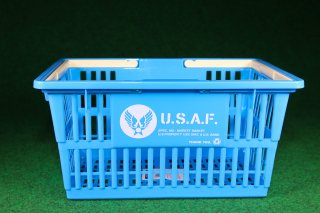 マーケットバスケットS 【US AIR FORCE】 輸入雑貨/海外雑貨/直輸入/アメリカ雑貨/イギリス雑貨/文房具/おもちゃ/買い物かご/ガレージ/インテリア/MARKET BASKET