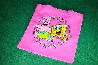 スポンジボブ カラートートバッグ スキップ 輸入雑貨/海外雑貨/直輸入/アメリカ雑貨/アメ雑/Sponge Bob/キャラクター/トートバッグ