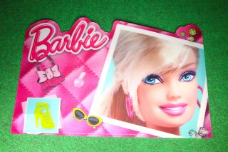 バービー プレイスマット 輸入雑貨/海外雑貨/直輸入/アメリカ雑貨/イギリス雑貨/文房具/おもちゃ/バービー/マット/インテリア/Barbie/人形/女の子