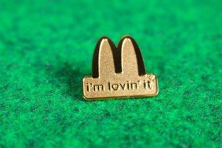 マクドナルド オフィシャル グッズ ピンバッジ LOGO I'm lovin' it 輸入雑貨/海外雑貨/直輸入/アメリカ雑貨/おもちゃ/McDonald's/
