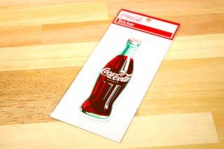 コカコーラ ステッカー COKE ボトル白ロゴ  写真 輸入雑貨/海外雑貨/直輸入/アメリカ雑貨/イギリス雑貨/文房具/おもちゃ/ステッカー/カー用品