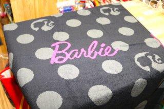Barbie バービー人形 ジャガードビッグタオル シルエットロゴ  輸入雑貨/海外雑貨/直輸入/アメリカ雑貨/子供/キャラクター/ギャル