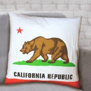 CALIFORNIA REPUBLIC カリフォルニア クッション  輸入雑貨/海外雑貨/直輸入/アメリカ雑貨