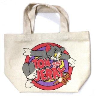 TOM and JERRY トムとジェリー サークル  マチ付バッグ  輸入雑貨/海外雑貨/直輸入/アメリカ雑貨