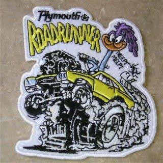 WAPPEN  Road Runner ロードランナー Plymouth ダイカット ワッペン 輸入雑貨/海外雑貨/直輸入/アメリカ雑貨