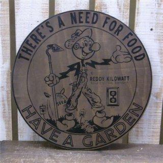 レディキロワット Wood Sign ウッドサイン  輸入雑貨/海外雑貨/直輸入/アメリカ雑貨