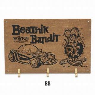 ラットフィンク フックボード Rat Fink Wooden Hook Board BeatnikBandit (RAF545:BB)  輸入雑貨/海外雑貨/直輸入/アメリカ雑貨/アメ雑