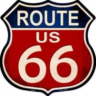 US ルート66 ハイウェイ メタルサイン2   輸入雑貨/海外雑貨/直輸入/アメリカ雑貨/アメ雑