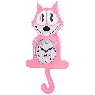 フィリックス アニメイテッド クロック CL600PI ピンク 時計  輸入雑貨/海外雑貨/直輸入/アメリカ雑貨/アメ雑