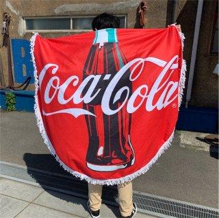 コカコーラ ビーチ タオル Coke Round Beach Towel  輸入雑貨/海外雑貨/直輸入/アメリカ雑貨/アメ雑