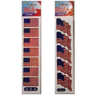 US USA 国旗 フラッグ ステッカー  タイプA 輸入雑貨/海外雑貨/直輸入/アメリカ雑貨