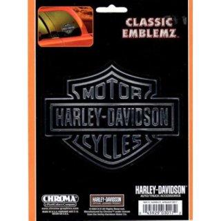 US  HARLEY  ハーレー デカール L ロゴ クローム&ブラック ステッカー  輸入雑貨/海外雑貨/直輸入/アメリカ雑貨