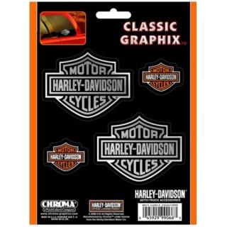 US  HARLEY  ハーレー デカール  L ロゴ 4pcs ステッカー  輸入雑貨/海外雑貨/直輸入/アメリカ雑貨