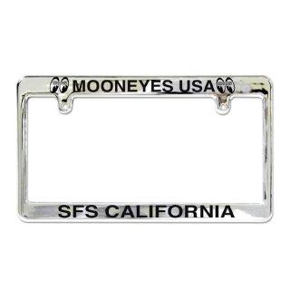 ムーンアイズ MOONEYES クローム ライセンス フレーム/MOONEYES USA [MG057CHMU]  輸入雑貨/海外雑貨/直輸入/アメリカ雑貨/アメ雑