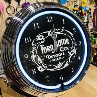 NEON CLOCK SINGLE【FORD MOTOR CO.】ネオン 時計  フォード 輸入雑貨/海外雑貨/直輸入/アメリカ雑貨/アメ雑