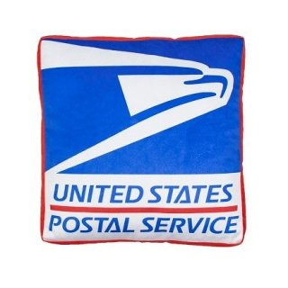 DIE CUT CUSHION クッション POSTAL SERVICE  輸入雑貨/海外雑貨/直輸入/アメリカ雑貨