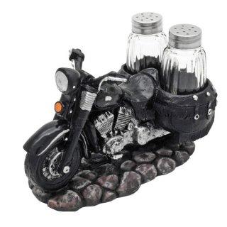 US モーターサイクル ソルト&ペッパー ブラック アメリカ雑貨