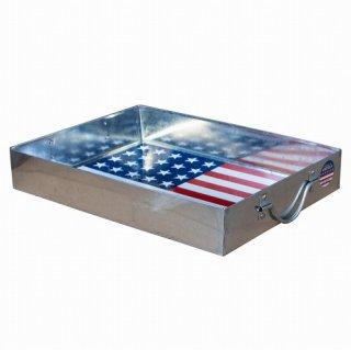STEEL TRAY (USA Lサイズ) スティール トレイ L アメリカ 柄 輸入雑貨/海外雑貨/直輸入/アメリカ雑貨