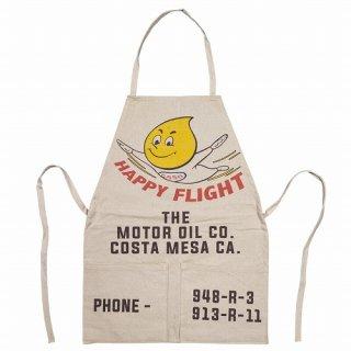 Vintage Work Apron Esso HAPPY FLIGHT エプロン 輸入雑貨/海外雑貨/直輸入/アメリカ雑貨