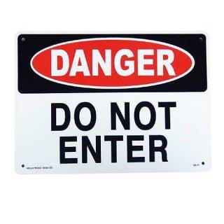 プラスチック サイン ボード Plastic Sign Board (CA-11危険立入り禁止)輸入雑貨/アメリカ雑貨