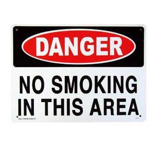 プラスチック サイン ボード Plastic Sign Board (CA-6危険ここは禁煙) 輸入雑貨/アメリカ雑貨