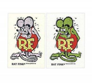 Rat Fink Made in USA ステッカー 9×5.7cm ラットフィンク グリーン 輸入雑貨/アメリカ雑貨