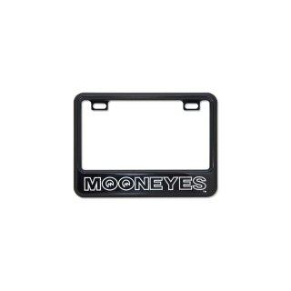 ムーンアイズ 【50cc〜125cc】 MOONEYES ライセンス プレート フレーム for スモール モーターサイクル ブラック [MG130GCBKMO]