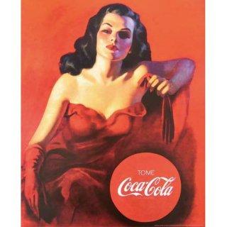 COKE  ミニポスター (M-444 Coca-Cola Red Dress) コカコーラ 英語 輸入雑貨/海外雑貨/直輸入/アメリカ雑貨
