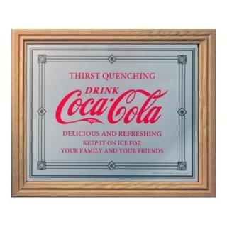 COKE Pub Mirror:M (PJP-102 Thirst) パブ ミラー コカコーラ 英語 輸入雑貨/海外雑貨/直輸入/アメリカ雑貨