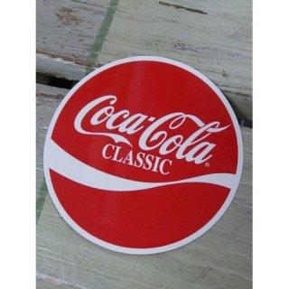 ☆COKE☆ (CC-BA58:コカ・コーラ CLASSIC 丸形) コカコーラ ステッカー  輸入雑貨/海外雑貨/直輸入/アメリカ雑貨