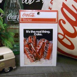 ☆COKE☆ (CC-NS7/NOSTALGIA)コカコーラ ステッカー  輸入雑貨/海外雑貨/直輸入/アメリカ雑貨