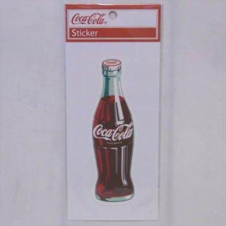 ☆COKE☆ (CC-BA46:ボトル白ロゴ)コカコーラ ステッカー  輸入雑貨/海外雑貨/直輸入/アメリカ雑貨